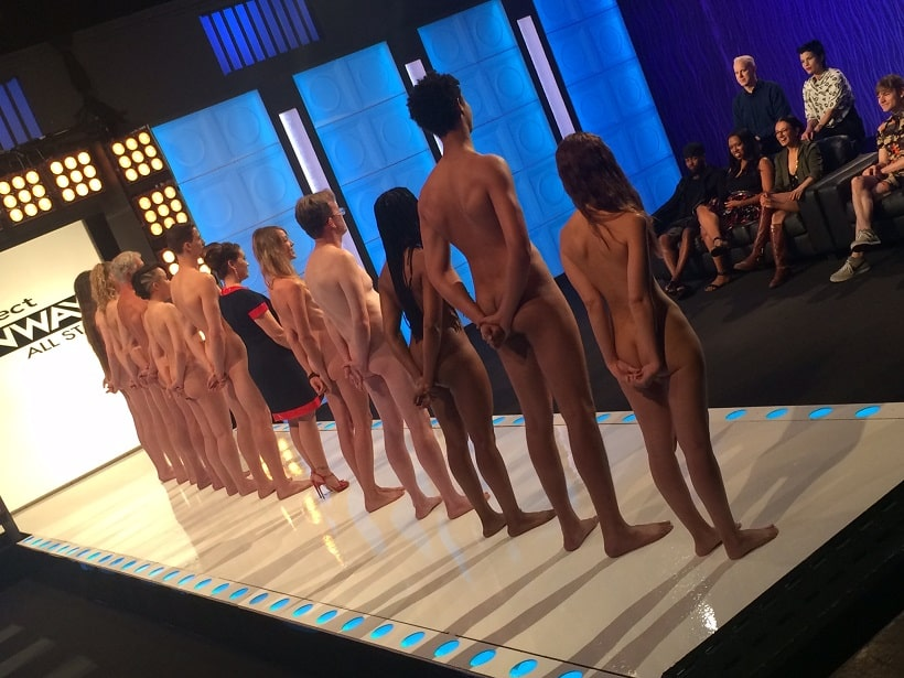 Naturists on the runway with Alyssa Milano uncensored on Project Runway All Stars