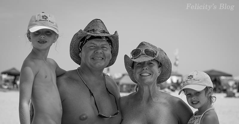 The Real Nude Beach Body Positive Photography Project: Portrait of Michael, Laurie & Kids