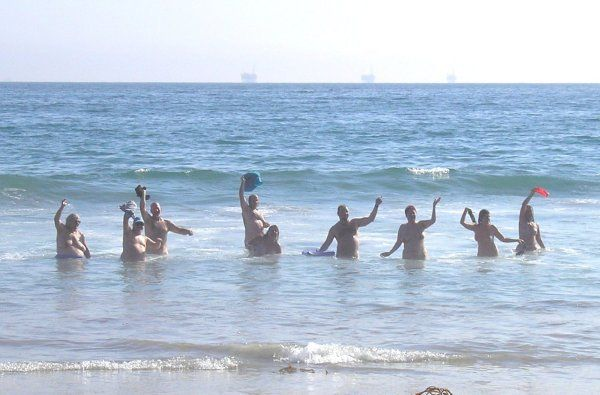 Local naturists enjoying Bates Beach