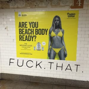 body shaming beach body ready weight loss ad beauty standards felicitys blog