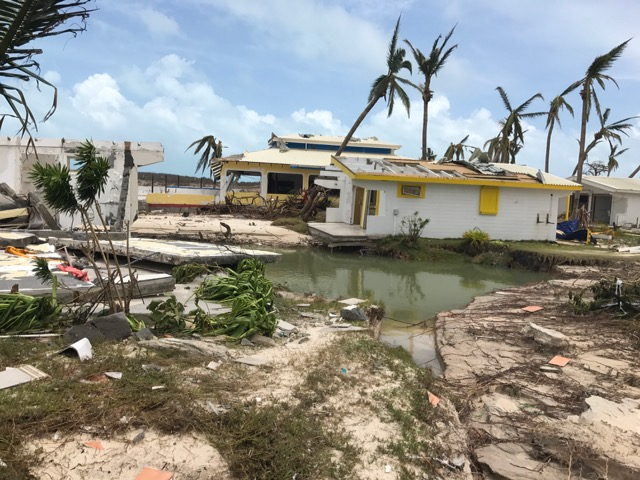 Club Orient Resort grounds after Hurricane Irma