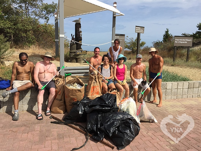 YNA Post-Cleanup Group Photo at Gunnison Beach