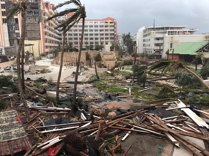 Hurricane Irma destruction in St. Martin