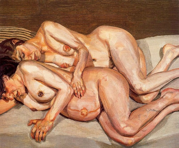 """""""Annie and Alice"""" by Lucian Freud (1975)"""