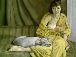 artist lucian freud nude paintings surrealism girl white dog felicitys blog