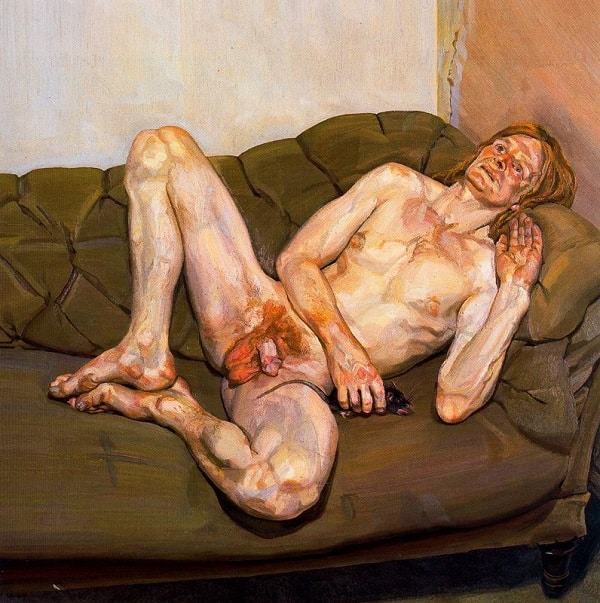 """Naked Man With Rat"" by Lucian Freud (1978)"