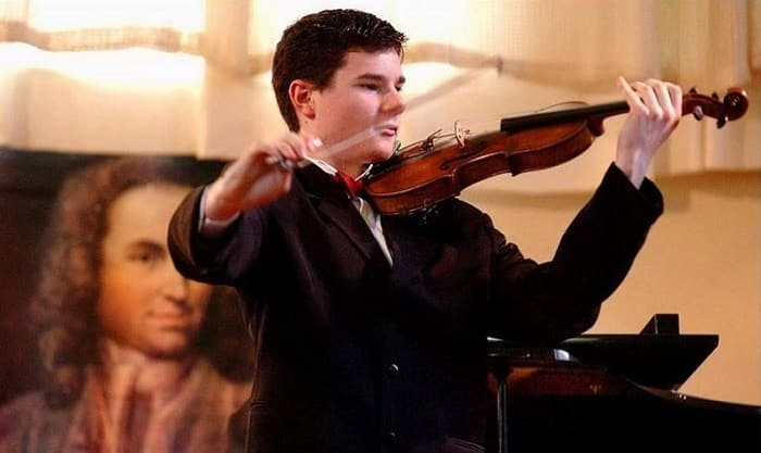 Young Glen Donnelly Playing Violin