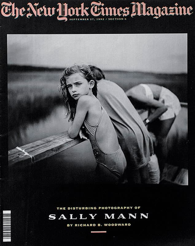 1992 New York Times Magazine cover featuring Sally Mann