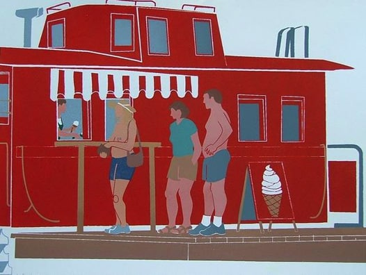 """Topfree Ice Cream"" Print by Henry Yuen"