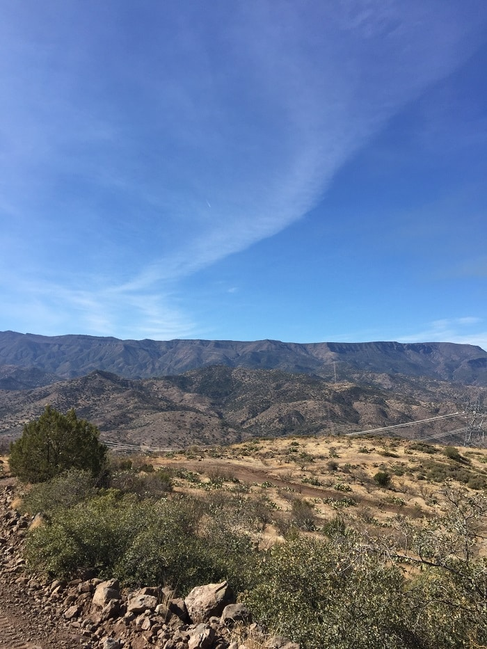 Scenic views on the way to Verde Hot Springs