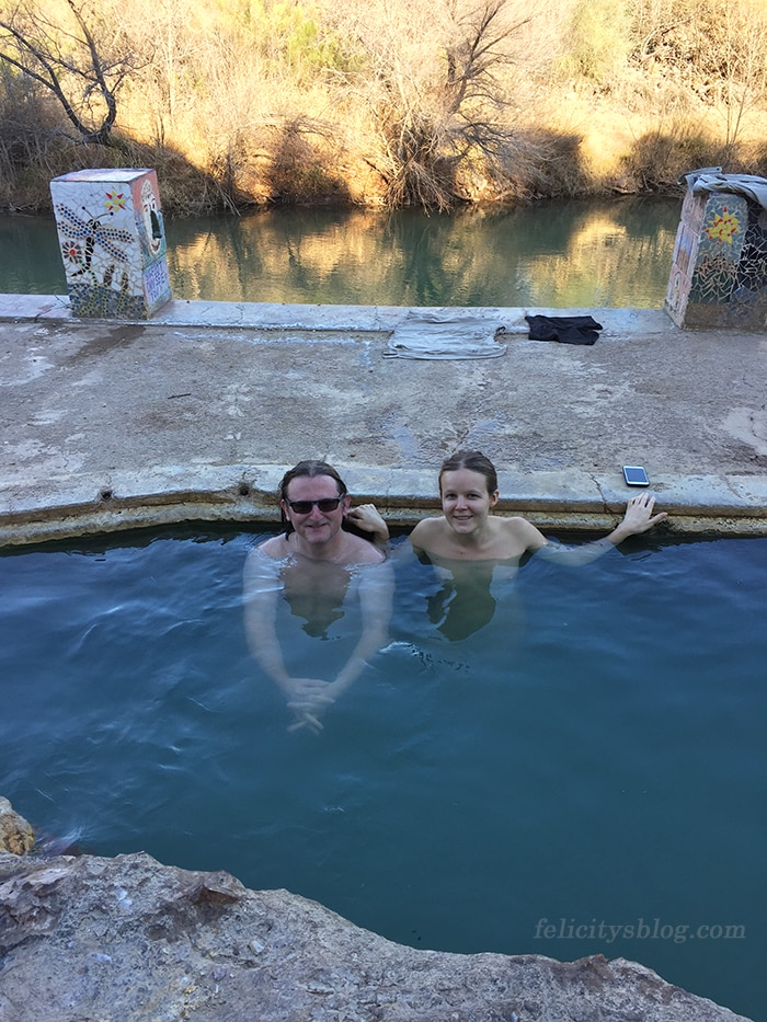 Soaking at Verde Hot Springs