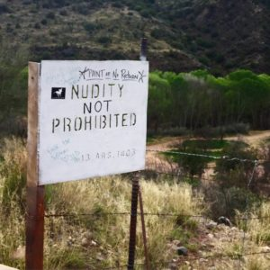 verde hot springs nudity not prohibited sign clothing optional review arizona felicitys blog