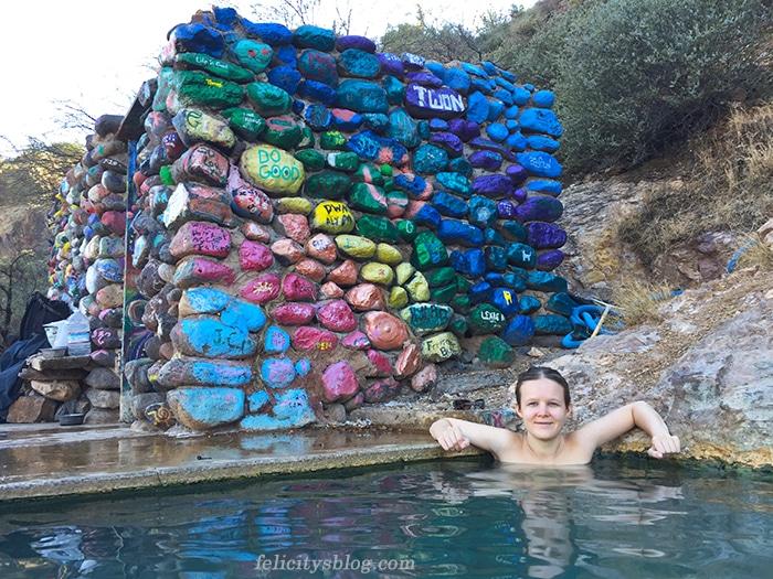 Soaking in the pool at Verde Hot Springs
