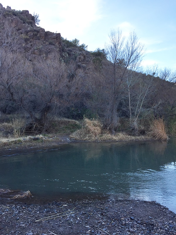 River crossing to Verde Hot Springs