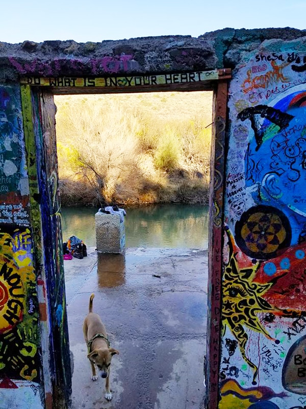 Doorway to middle pool at Verde Hot Springs