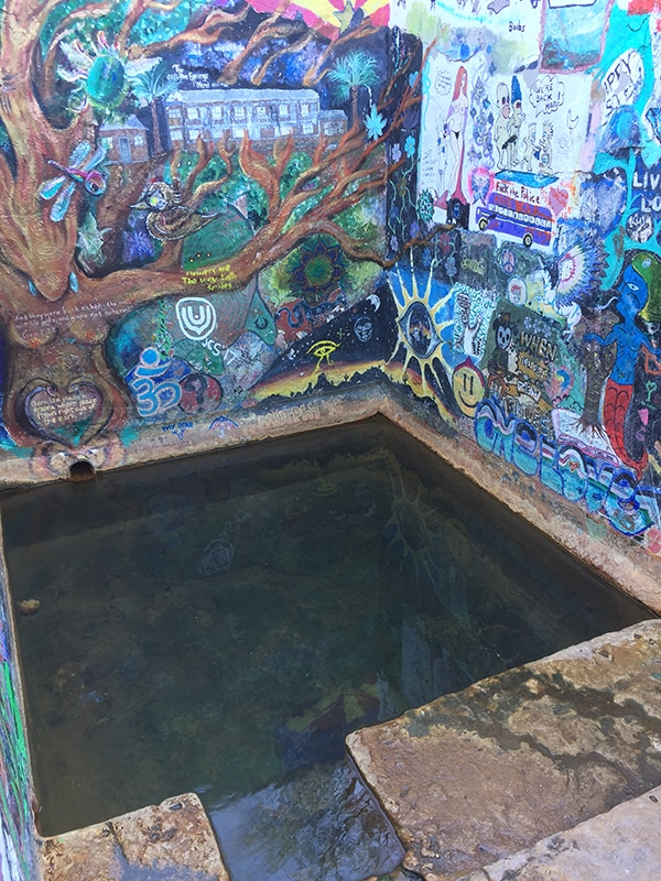 Enclosed pool at Verde Hot Springs
