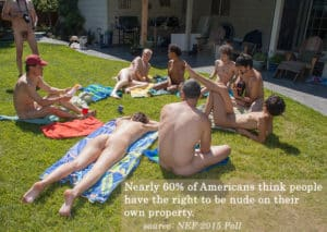 naturist education foundation zogby poll results home nudity backyard nudism naturism felicitys blog