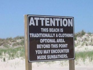 clothing optional beaches nude sunbathers sign naturist beach florida felicitys blog