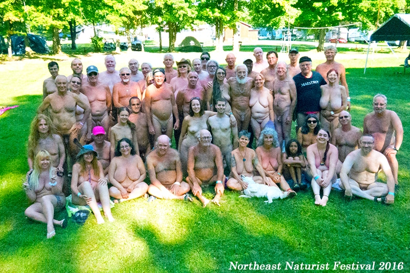 Northeast Naturist Festival Group Photo 2016