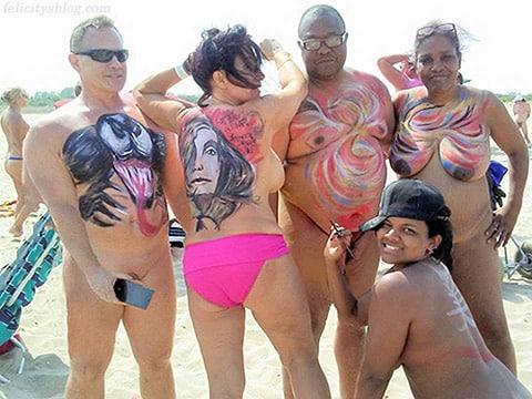 Naked Body Art at Gunnison Beach