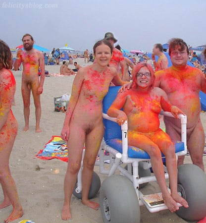 Naked Holi Powder Body Art Pic