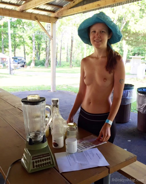 Felicity leading a workshop at the Northeast Naturist Festival 2016