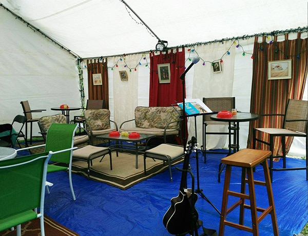 Paytra's Coffee House at the Northeast Naturist Festival 2016