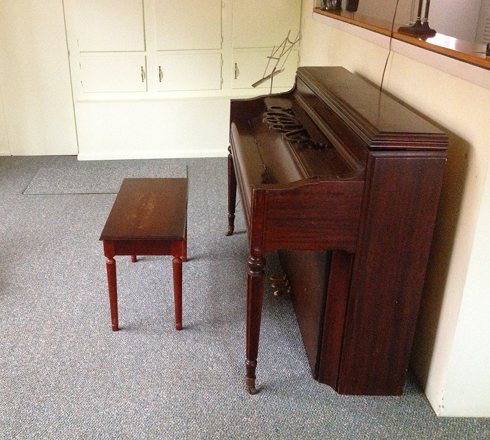 Nudist Vacation Rental – Upright Piano