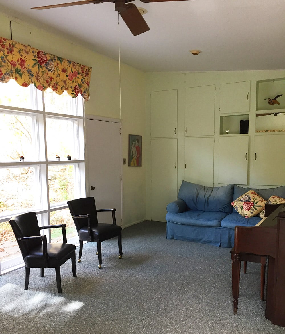Nudist Vacation Rental – Living Room