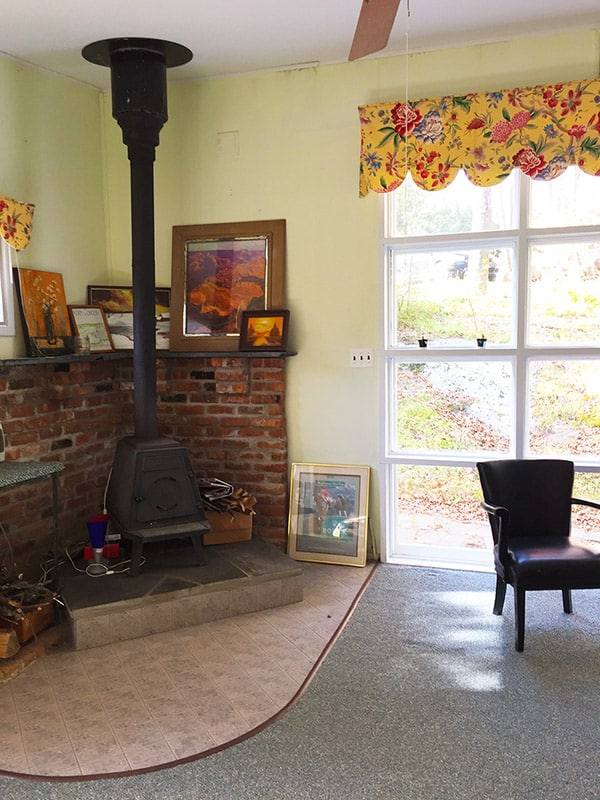 Nudist Vacation Rental – Wood Stove