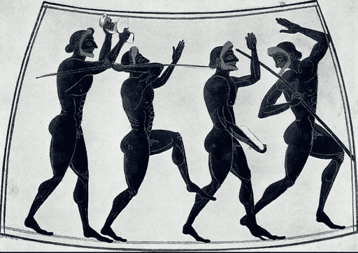 Javelin Throwers Nude Olympics in Ancient Greece