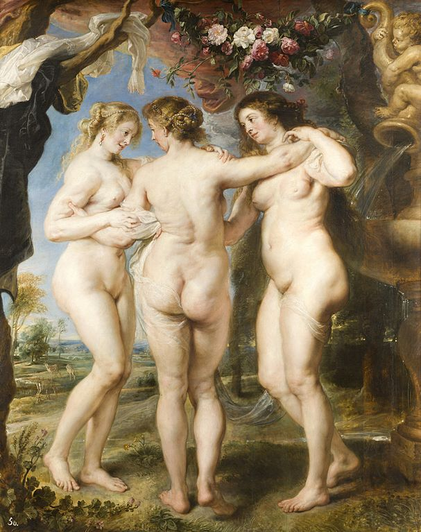 """The Three Graces"" by Peter Paul Rubens 1635"