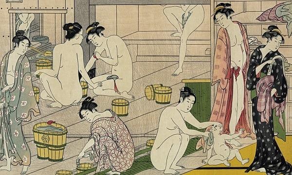 Communal bathhouse in Japan