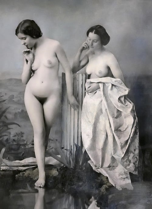 nudity history nudism victorian era two nude women baths hagerman felicitys blog