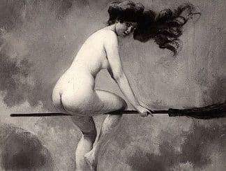 nudity paganism wicca history naked witch broomstick skyclad folklore painting featured felicitys blog