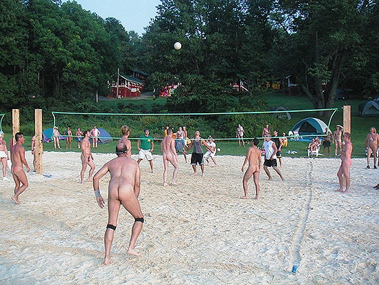 Nude Volleyball at White Thorn Lodge
