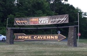 naked in a cave event howe caverns lets get naked sign entrance felicitys blog