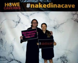 naked in a cave event photo signs howe caverns ny felicitys blog