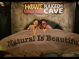naked in a cave howe caverns photo booth medals featured felicitys blog