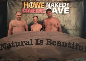naked in a cave group photo booth howe caverns event ny felicitys blog