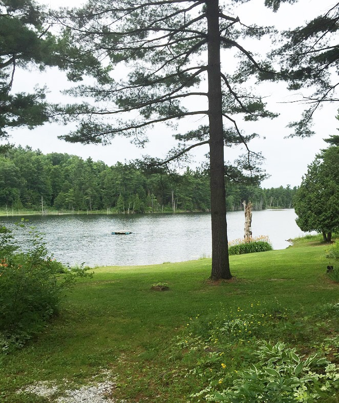Beach and Long Pond at Coventry Nudist Resort