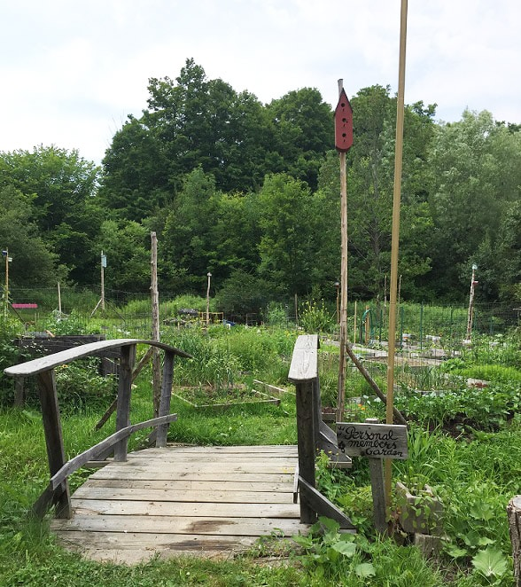 Entrance to Members' Community Garden at Coventry Resort
