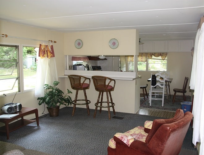 View inside rental trailer at Coventry